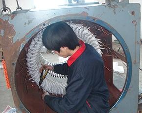 10KV高压电机端部小线